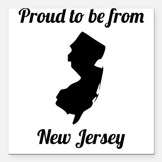 "Proud To Be From New Jersey Square Car Magnet 3"" x"