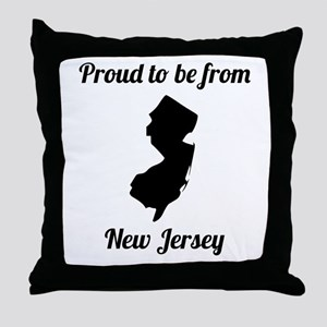 Proud To Be From New Jersey Throw Pillow
