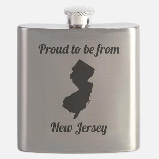 Proud To Be From New Jersey Flask
