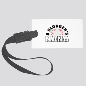 Baseball grandmother Large Luggage Tag