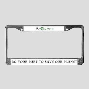 BeGreen License Plate Frame