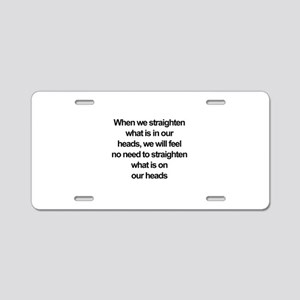 African American quote Aluminum License Plate