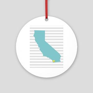 I Love San Diego Ornament (Round)