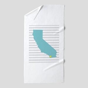 I Love San Diego Beach Towel