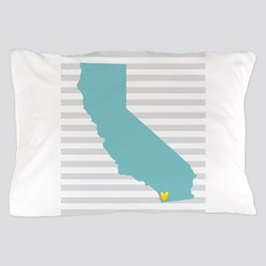I Love San Diego Pillow Case