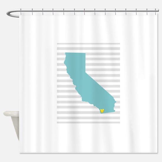 I Love San Diego Shower Curtain