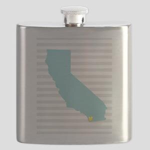 I Love San Diego Flask
