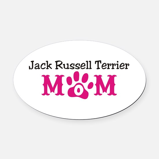 Jack Russell Terrier Oval Car Magnet
