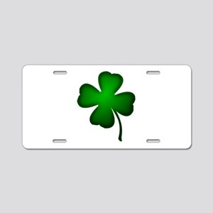 Four Leaf Clover Aluminum License Plate