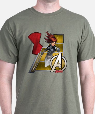 The Avengers Black Widow Flying T-Shirt