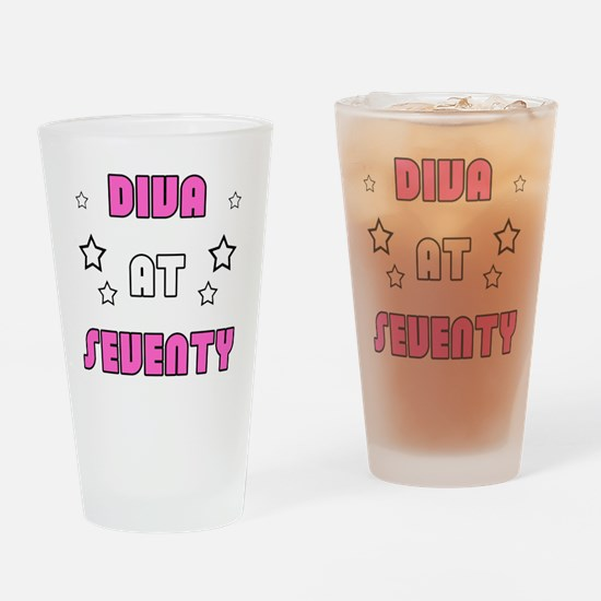 Women's 70th Birthday Drinking Glass