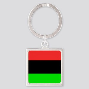 Square African American Flag Keychains