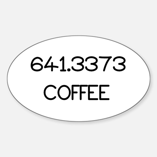 641.3373 Sticker (Oval)