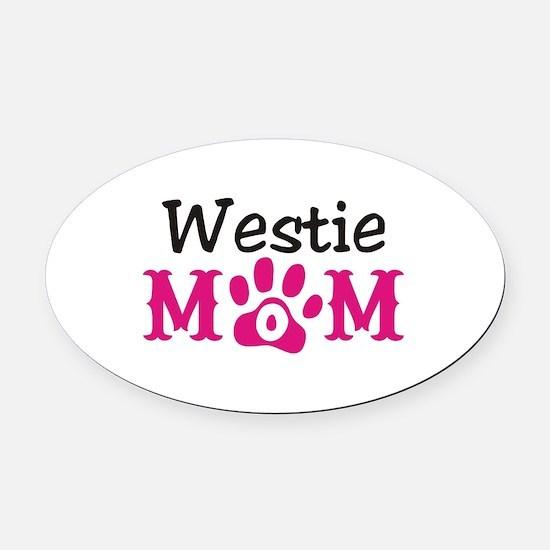 Westie Oval Car Magnet