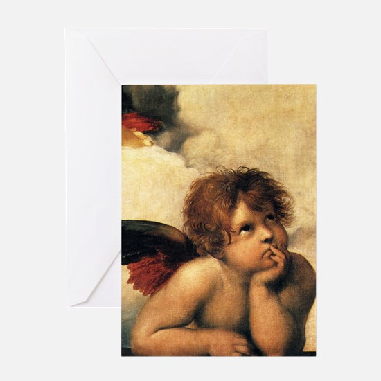 Sistine Madonna Angels by Raphael Greeting Cards