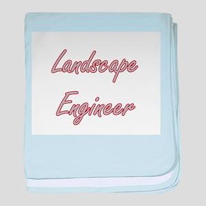 Landscape Engineer Artistic Job Desig baby blanket