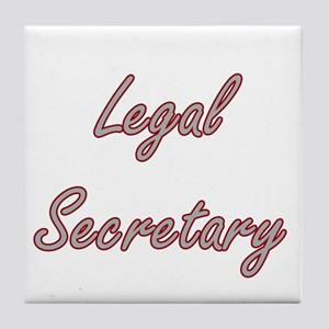 Legal Secretary Artistic Job Design Tile Coaster