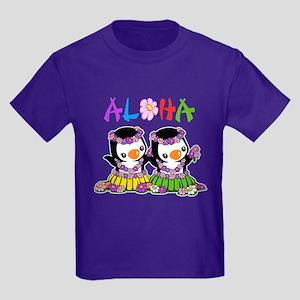 Aloha Penguins (1) Kids Dark T-Shirt