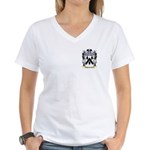 MacBurnie Women's V-Neck T-Shirt