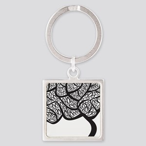Abstract Tree Keychains