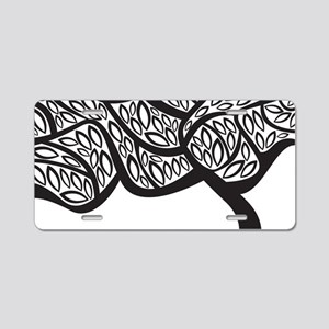 Abstract Tree Aluminum License Plate