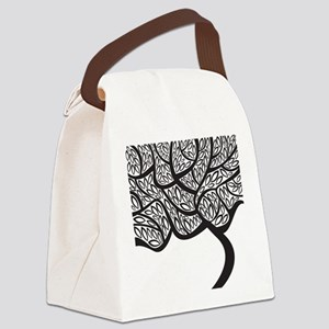 Abstract Tree Canvas Lunch Bag
