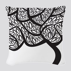 Abstract Tree Woven Throw Pillow