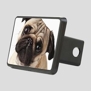 Curious Pug Rectangular Hitch Cover