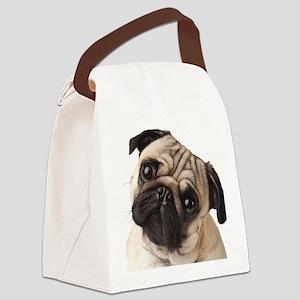Curious Pug Canvas Lunch Bag