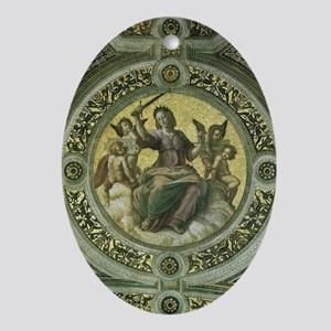 Justice by Raphael Ornament (Oval)