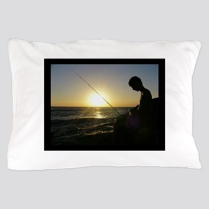 fishing by the sea Pillow Case