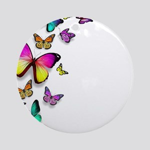 Colorful Butterfly Ornament (Round)