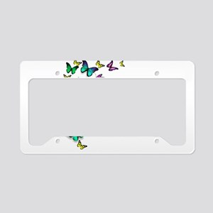 Colorful Butterfly License Plate Holder