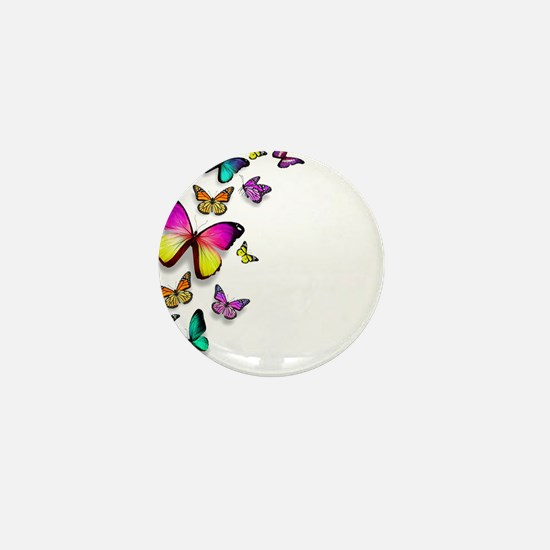 Colorful Butterfly Mini Button