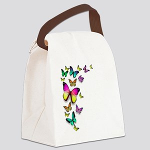 Colorful Butterfly Canvas Lunch Bag