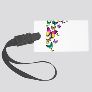 Colorful Butterfly Luggage Tag