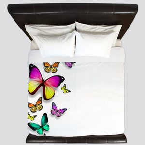 Colorful Butterfly King Duvet