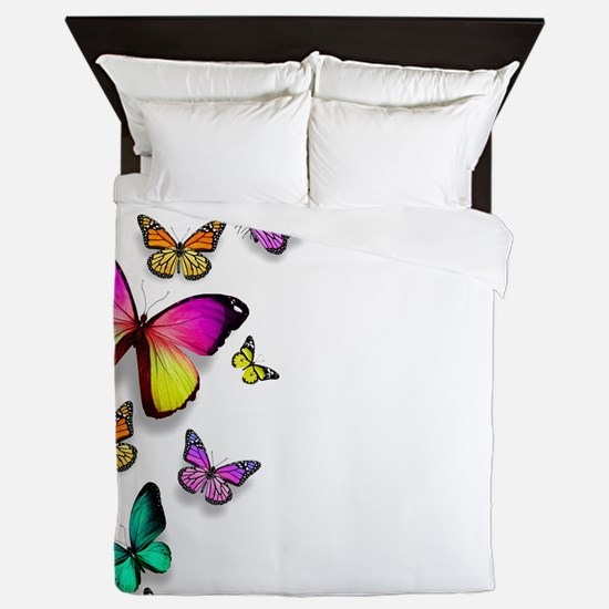 Colorful Butterfly Queen Duvet