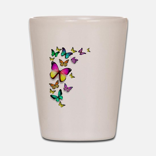Colorful Butterfly Shot Glass