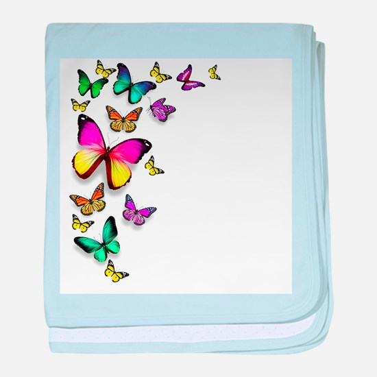 Colorful Butterfly baby blanket