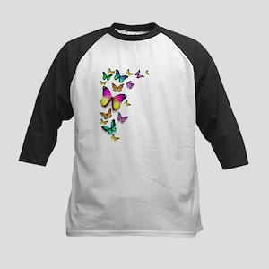 Colorful Butterfly Baseball Jersey