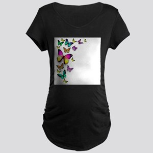 Colorful Butterfly Maternity T-Shirt