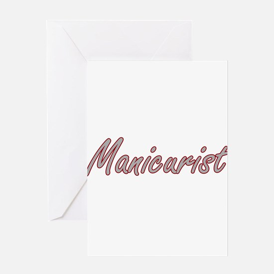 Manicurist Artistic Job Design Greeting Cards
