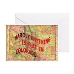 Flat Colorado Greeting Card