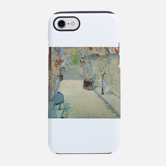 The Rue Mosnier with Flags iPhone 7 Tough Case
