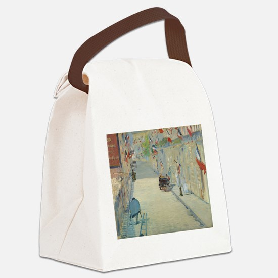 The Rue Mosnier with Flags Canvas Lunch Bag