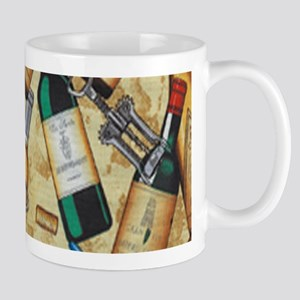 Wine Bottle and Cork Screws Mugs