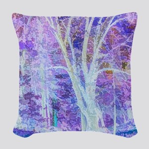 The Dancing Tree Woven Throw Pillow