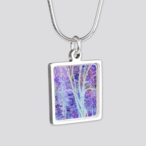 The Dancing Tree Silver Square Necklace