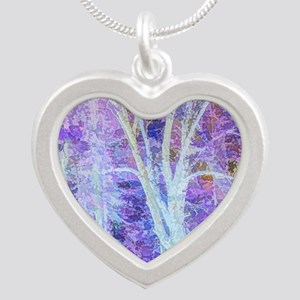 The Dancing Tree Silver Heart Necklace